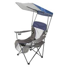 Outdoor Swim Ways Premium Single Lawn Chair With Canopy Blue ...