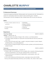 View Resume First Class Welder
