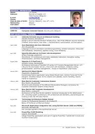 Sample Resume Template For Career Download Free