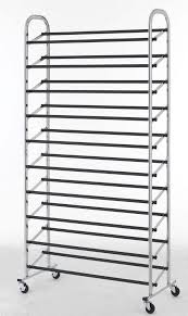 50 Pair Shoe Rack Storage Organizer 10 Tier Chorme Shoe Rack With