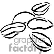 Coffee Bean Clipart Black And White Beans