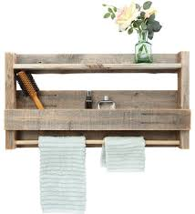 Connor Reclaimed Wood Bathroom Shelf Rustic