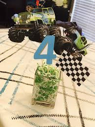 100 Monster Truck Party Decorations Centerpieces In 2019