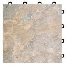 Light Slate Vinyl Top Interlocking Floor Tile 25 pack