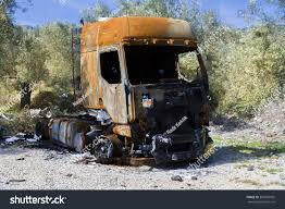 100 The Burnt Truck Abandoned Along Road Burned Stock Photo Edit Now
