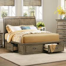 King Platform Bed With Fabric Headboard by Homelegance Sylvania Eastern King Platform Bed With Storages In