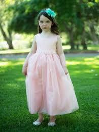 Flower Girl Dress Style 278 DUSTY ROSE Sleeveless Tulle Dress with