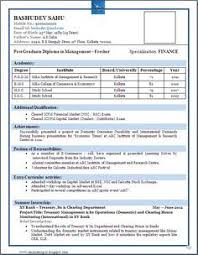 Best Resume Format For Freshers Simple Professional