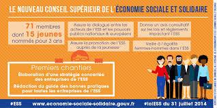chambre r馮ionale de l 馗onomie sociale et solidaire installation du conseil supérieur de l economie sociale et solidaire