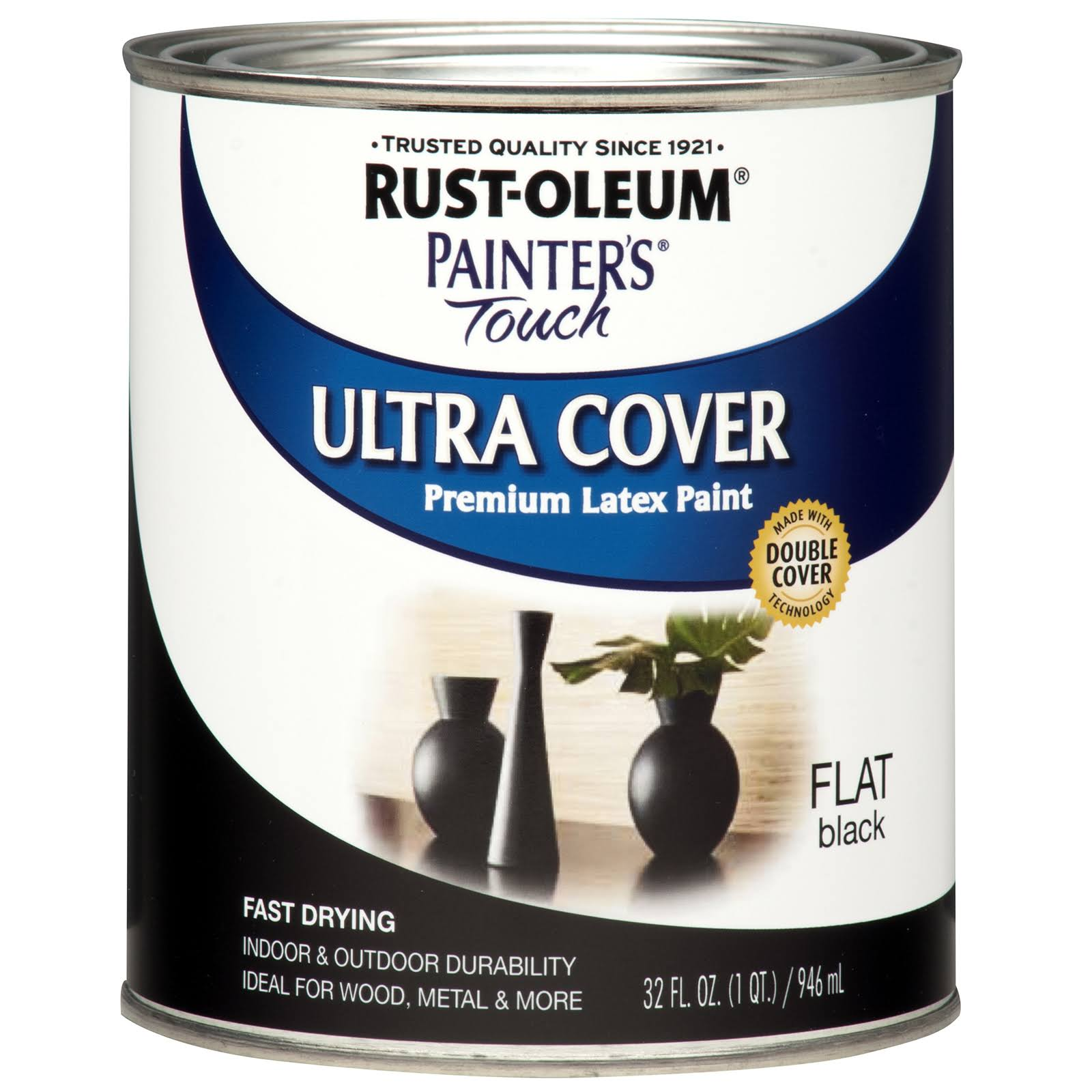 Rust-Oleum Painter's Touch Ultra Cover Latex Paint - Flat Black