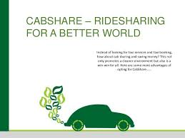 Cab sharing helps with the optimum utilisation of the low number of reliable & available taxis