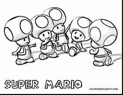 Awesome Super Mario Coloring Pages With And Nfl