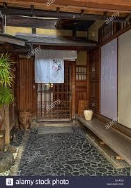 100 Tea House Design Kyoto Japan April 2019 With Noren Curtain