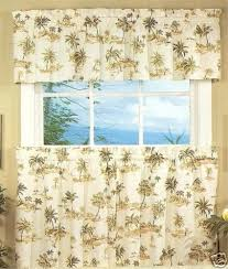 Palm Tree Kitchen Curtains Tiers And Swags