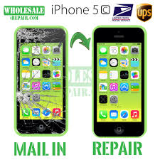 iPhone 5c Glass & LCD Replacement Mail in Repair Parts and