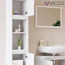 vicco badschrank weiß badezimmerschrank hochschrank badregal schrank