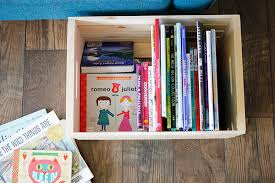 Childrens Books Stored In A Wooden Crate