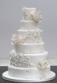 White Ruffles Swarovski and Diamond Flowers Wedding Cake Cakes Beautiful Cakes for the Occasions Pinterest