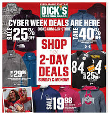 Cyber Monday 2018: Dick's Sporting Goods Ad Scan – 2 Steepandcheap Free Shipping Coupon Code Lakeshore Eatery Back To School Counsdickssportinggoods2017 Dicks 20 Off Coupon Amazon Coupons 2019 51 Cottons Coupons Promo Discount Codes Nrma Koffer Direkt Pellet Heads Call And Get Them Match Ruralkingcom Sporting Goods Codes Tornado Bus Online Shopping Vail Ski Resort Rx Promo 2018