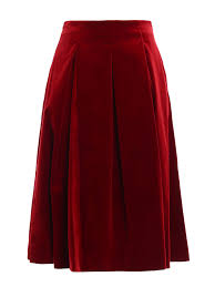 gioia velvet a line midi skirt by max mara knee length skirts