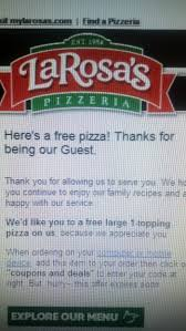Anyone Else Get A No Strings Attached Free Large Pizza Coupon From ... National Pepperoni Pizza Day Deals And Freebies Gobankingrates Larosas Pizza Coupon Codes Beauty Deals In Kothrud Pune Free Rondos W The Purchase Of A 14 Larosas Pizzeria Facebook Cincy Favorites Shipping Ccinnatis Most Iconic Brands Larosaspizza Twitter Coupons For Dental Night Guard Costco Printable Coupons July 2018 Kids Menu Hut The Body Shop Groupon Rosas Sixt Answers Papa Johns Pajohnscincy Code Saint Bernard Discount Td Car Rental Bjs Gainesville Va