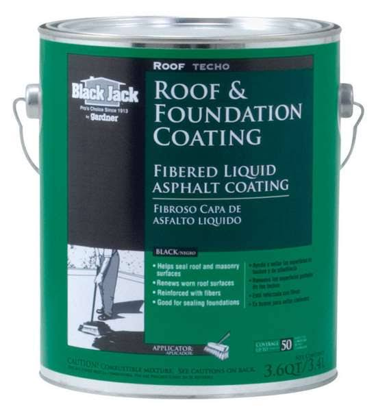 Gardner Gibson Black Jack Fibered Roof and Foundation Coating - 3.6qt