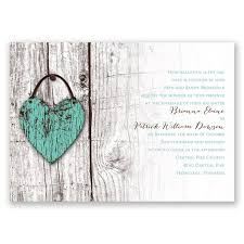 Rustic Wedding Invitations With A Romantic Twist The White Wooden Background Lends Itself To