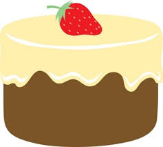 Cake Clipart Image Chocolate Cake With Vanilla Frosting