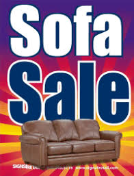 Plastic Window Sign Sofa Sale