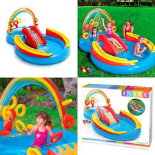 Intex Inflatable Pool Water Swimming Play Center With Slide And