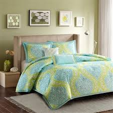 Unique Lime Green And Blue Bedding Sets 47 With Additional Cotton
