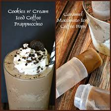 Pumpkin Spice Macchiato Dunkin Donuts Nutrition by Cookies N U0027 Cream Iced Coffee Frappuccino And Caramel Macchiato