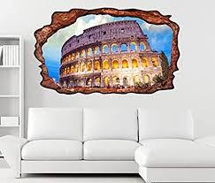 3d wandtattoo kolosseum rom italien bauwerk antik