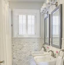 marble and subway tile bathroom beautiful likeness of the