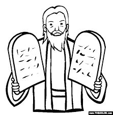 Free Passover Coloring Pages Color In This Picture Of The Ten Commandments And Others With Our Library Online