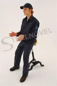 siege pour assis steelnovel siège assis debout revêtement vinyle et pour travail de