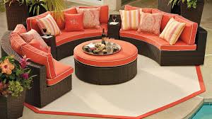 Smith And Hawkins Patio Furniture Cushions by Furniture Frontgate Outdoor Furniture With Orange Sofa And