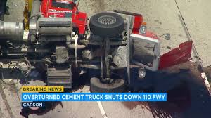 Carson Crash: Overturned Cement Truck Snarls Southbound 110 Freeway ... Video Tired P0ce W0man Crvhed To D3th By Cement Truck In Spur Cement Truck Video Famous 2018 Carson Crash Overturned Cement Truck Snarls Sthbound 110 Freeway With Pretty Eyelashes Valcrond Concrete Delivery Mixer Trucks Rear Chute Review For Children Cstruction Vehicles Heavy Russian Dashcam Of A Falling Into Giant Hole In Kids Channel For Trucks Kids Learn Colors Cartoons Babies Videos Only Russia Swallowed By Sinkhole Aoevolution Clip Art