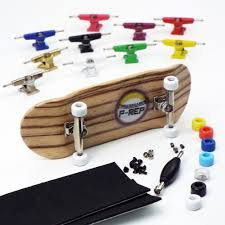 100 Fingerboard Trucks PREP NOLO 34mm Zebra Complete Wooden Pick And
