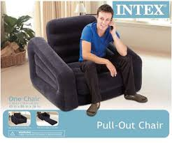 Intex Inflatable Sofa With Footrest by Intex Inflatable Air Mattress Pull Out Chair Newegg Com
