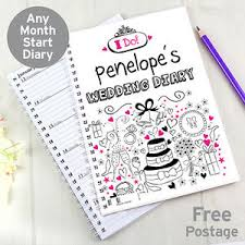 Image Is Loading Personalised WEDDING DIARY Appointment Book Wedding Planner Information