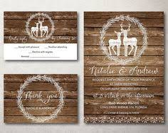 Deer Wedding Invitations Set Vintage Rustic Printable Country Invite Burlap Barn Wood Or Chalkboard Suite Template