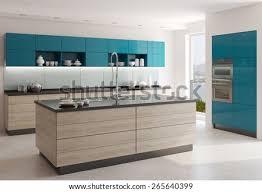 Modern White Kitchen Interior 3d Rendering Stockfoto Und Puzzlepix