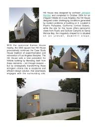 100 Johnston Mark Lee PPT Hill House By Lee In California January