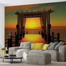 sonnenuntergang paradies lounge chillout fototapete