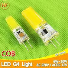 new g4 cob led bulb acdc 12v 6w ac220v 6w 10w led g4 l
