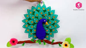 DIY Cardboard Peacock Wall Hanging For Home Decor
