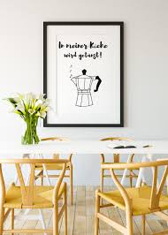 in meiner küche wird getanzt poster
