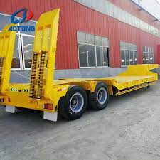 100 Semi Truck Trailers Hot Item 3 Axles 165m Length Lowbed For Sale