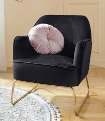 leonique sessel semois aus schönem weichen velvet bezug mit messingfarbenen beingestell aus metall sitzhöhe 43 cm kaufen otto